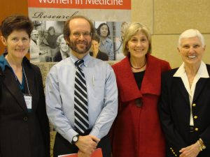 Carolyn Clancy, M.D., Dean Robert Golden, Molly Carnes, M.D. and Gloria Sarto, M.D. at the 10th Anniversary of UW's CWHR
