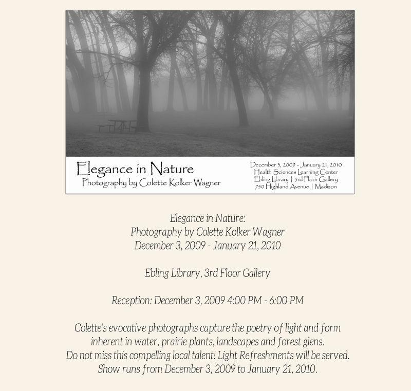 Elegance in Nature Colette Kolker Wagner